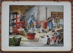 making cheese (Cornelis Jetses) Teaching Tables, Making Cheese At Home, Anton Pieck, School Posters, Art Reproductions, Dutch, The Past, Illustration Art, Images