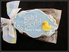 "Nanny's Sugar Cookies LLC: ""Plaque"" cookie favors"