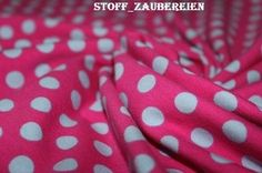Stenzo Baumwollstoff Polka Dots Punkte Tupfen pink grau Meterware
