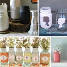 Painted Mason Jar Inspiration Board