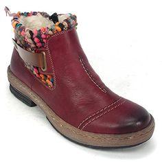 BOTTE FEMME ROUGE RIEKER Z6798 (40) - Chaussures rieker (*Partner-Link)