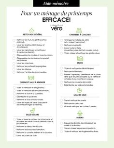 Checklist for efficient spring cleaning! Cleaning Checklist, House Cleaning Tips, Spring Cleaning, Cleaning Hacks, Planner Organisation, Grand Menage, Flylady, Small Room Bedroom, Little Girl Rooms