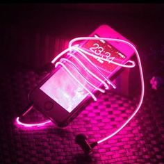 LED glow earphones that dance to your beats Music Aesthetic, Aesthetic Colors, Aesthetic Grunge, Aesthetic Pictures, Orange Pastel, Magenta, Purple, Pink Photo, Everything Pink