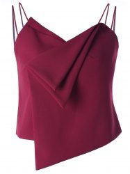 Stylish V-Neck Spaghetti Strap Asymmetric Solid Color Crop Top For Women Blouse Styles, Blouse Designs, Essentiels Mode, Tango Dress, Stylish Tops, Sammy Dress, Western Outfits, Mode Style, Fashion Sketches