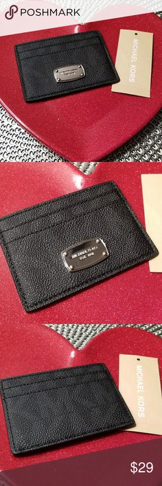MICHAEL KORS CARDHOLDER Nwt.  Never used   2 card pockets on front, 2 on back and center pocket. Michael Kors Accessories Key & Card Holders