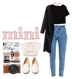 """Mini me"" by zulfastley ❤ liked on Polyvore featuring Vetements, Charlotte Olympia, MANGO, Boohoo, CÉLINE, Fujifilm, Charlotte Tilbury and Minime"