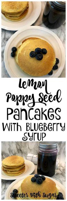 Lemon Poppy Seed Pancakes | Sweeter With Sugar Lemon Pancakes, Tasty Pancakes, Homemade Pancakes, Protein Pancakes, Best Breakfast Recipes, Brunch Recipes, Pancake Recipes, Light And Fluffy Pancakes, Lemon Poppyseed Muffins