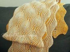 Снуд спицами *Листья* в технике бриошь -  Модное вязание Crochet Stitches Patterns, Knitting Patterns Free, Stitch Patterns, Free Pattern, Crochet Shawl, Knit Crochet, Crochet Clothes, Embroidery, Handmade