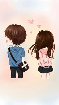 215 best cute couple cartoon images in 2019 anime couples Cute Chibi Couple, Love Cartoon Couple, Cute Love Cartoons, Cute Love Couple, Anime Love Couple, Cute Anime Couples, Girl Cartoon, Cute Love Images, Cute Couple Wallpaper