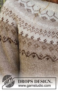 Talvik / DROPS - Free knitting patterns by DROPS Design Free knitting instructions History of Knitting Yarn rotating, weaving and stitching careers such as BC. Baby Knitting Patterns, Love Knitting, Fair Isle Knitting, Knitting Charts, Crochet Patterns, Knitting Designs, Drops Design, Drops Baby Alpaca Silk, Lace Sweater