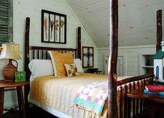 Rustic attic bedroom idea