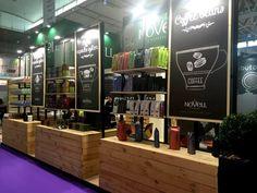 #Stand Novell Alimentaria 2016 contemporaneaeventi.com #Barcelona Display de Productos y decoración en madera