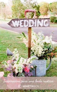5 consejos para tu boda rústica Hoy te he preparado estas 5 ideas para bodas…