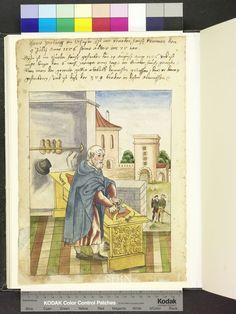 1554 German leather worker, leather knife, work bench  Die Hausbücher der Nürnberger Zwölfbrüderstiftungen