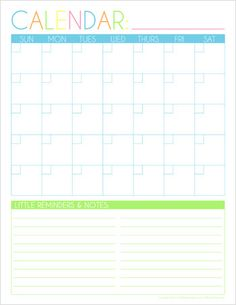 Free Monthly Calendar {Schedule for the Month also available}