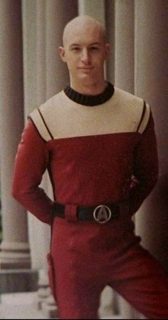 Tom Hardy as Cadet Jean-Luc Picard.