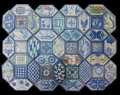 Geometrico colorato messicana con piastrelle fotografie stock e