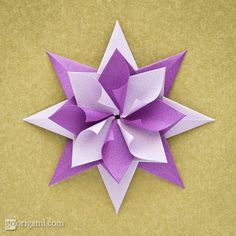 Origami star instructions
