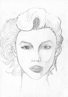 Woman Face Sketch on Behance