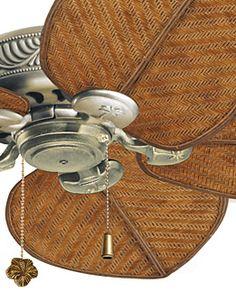 Wicker blades ceiling fan.