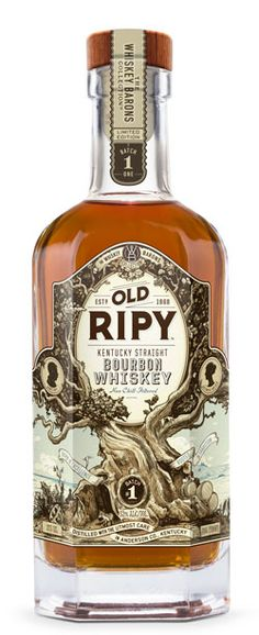 "Old Ripy is a combination of 8-year-old Kentucky Straight Bourbon with 12-year-old and younger whiskies for added complexity and oak. It is distilled at the Wild Turkey Distillery in Anderson County, aged in timber warehouses and non-chill filtered to retain congeners, fusil oils, lipid fats and proteins we believe you would find in the original. This results in more natural and complex flavor characteristics, fuller body, and a smooth but ""chewier"" mouthfeel."