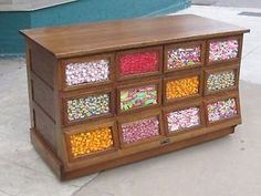 Antique General Store Lrg Display Bean / Candy Counter 1800's ...