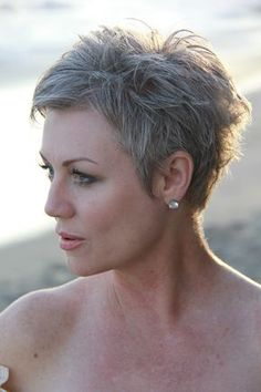 short hairstyles over 50 - pixie cut for grey hair . - short hairstyles over 50 - pixie cut for grey hair . Stylish Short Haircuts, Short Hairstyles Over 50, Edgy Haircuts, Short Pixie Haircuts, Short Hairstyles For Women, Hairstyles Haircuts, Trendy Hairstyles, Short Hair Over 50, Short Wavy