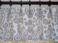 Suzani Custom Curtain Valance Kitchen Valance Modern Window Treatment 52X16 or 52X18