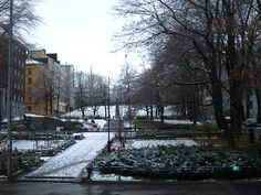Kallio district under the snow. Helsinki, Im In Love, Environment, Snow, Explore, City, Outdoor, Beautiful, Outdoors