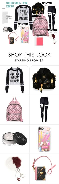"""""""2K16!"""" by naa215 on Polyvore featuring Moschino, WithChic, NARS Cosmetics, Casetify, Accessory PLAYS, Prada, PHAIDON and 2k16"""