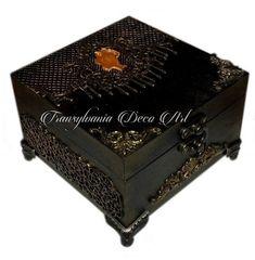 Handmade decorated jewelry box, Romantic lady jewelry box, Painted jewelry box, Gift jewelry box, Transylvania gift