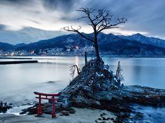 Shinto Shrine in Otsuchi, Japan