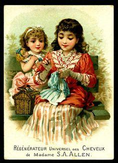 vintage adv.-two girls