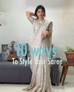 10 ways to style a saree