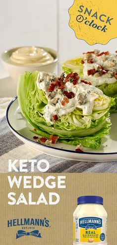 Keto Wedge Salad Searching for a surprisingly snack-worthy salad? This simple, savory and crumbly classic is the answer. So snack it up and feel good about it. Low Carb Keto, Low Carb Recipes, Diet Recipes, Cooking Recipes, Healthy Recipes, Cooking Games, Cooking Videos, Juice Recipes, Cooking Classes