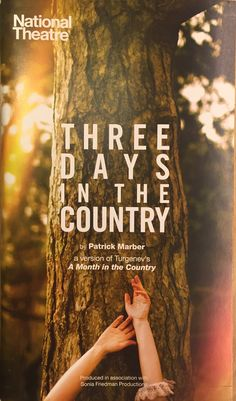 Three Days in the Country by Patrick Marber (Turgenev), Lyttleton Theatre. With Mark Gatiss and John Simm. Aug 2015.