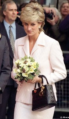Princess Diana with  her Dior Bag
