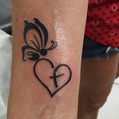 Semicolon butterfly faith tattoo