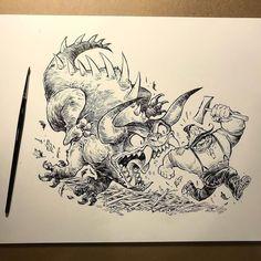 Robb Mommaerts (@robbmommaerts1) | Twitter Robots Drawing, Art Drawings, Character Art, Character Design, Ink Art, Drawing Reference, Fantasy Characters, Inktober, Graffiti