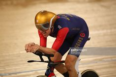 Sir Bradley Wiggins of Great Britain and Team Wiggins on his way to breaking the UCI One Hour Record at Lee Valley Velopark Velodrome on June 7, 2015 in London, England.