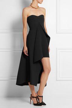 Stella McCartney | Malia stretch-wool and crepe midi dress | NET-A-PORTER.COM