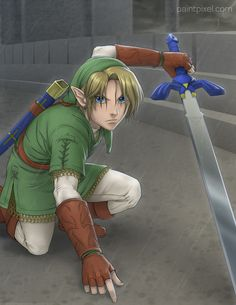 I love the detail on this one - pretty Link. There's something about Elves that just make me fall in love XD