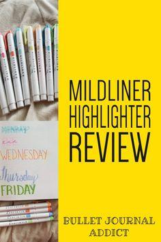 Bullet Journal Supplies For Beginners - Best Bullet Journal Supplies - Mildliner Highlighter Review For Bullet Journals #bujo #bujolove #bujosupplies #bulletjournal #bulletjournalsupplies #bulletjournalideas #bujoideas