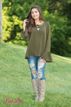 From the color to the beautifully breezy look, this blouse is simply perfect for welcoming fall! It features a gorgeous shade of deep olive green that pairs wonderfully with denim, plus the material is so lightweight and easy to wear all day long!