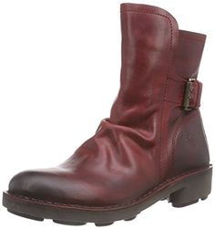 Fly London NING, Damen Biker Boots, Rot (Red 017), 35 EU