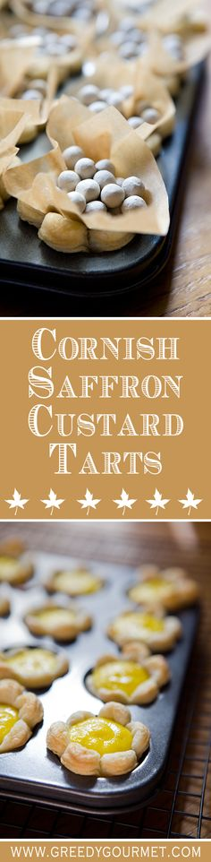 What's not to like about these Cornish Saffron Custard Tarts?