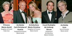 Princess Marie Astrid of Luxembourg and her family
