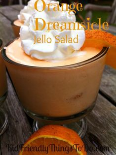 Orange Dreamsicle Jello Salad Recipe – Great Dessert to Feed a Crowd Orange Dreamsicle Jello Salad Recipe. The best! Jello Fruit Salads, Dessert Salads, Fruit Salad Recipes, Orange Jello Salads, Refreshing Desserts, Great Desserts, Jello Recipes, Dessert Recipes, Pudding Desserts