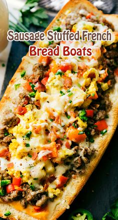 Sausage Stuffed French Bread Boats
