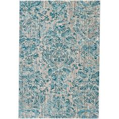 teal and grey area rug $163 5x7